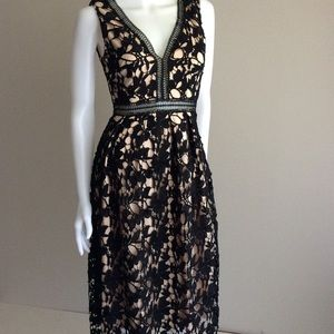 Romeo and Juliet black lace dress